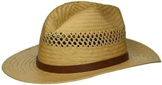 Brixton Men's Case Medium Brim Straw Fedora Hat