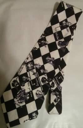 Nicole Miller Chess Necktie: Black & White Chess Pattern