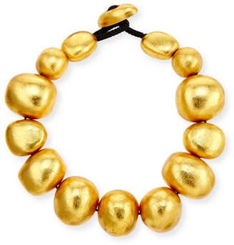 Viktoria Hayman Freeform Gold Foil Bauble Necklace