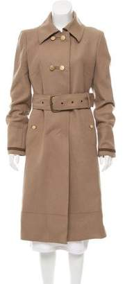 CNC Costume National Belted Wool Coat
