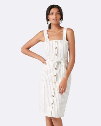 Forever New Drew Button Down Stripe Denim Dress