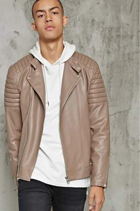 Forever 21 Ribbed Faux Leather Jacket