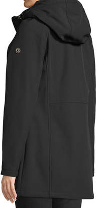 Iconic American Designer Soft-Shell Anorak Jacket w/ Puffer Bib