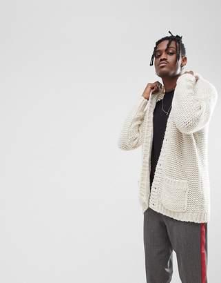 Asos Oversize Cardigan In Mohair Wool Blend
