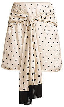 Mother of Pearl Women's Polka-Dot Scarf Wrap Skirt