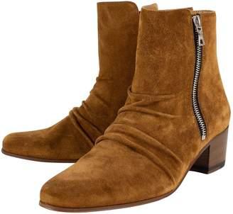 Amiri Brown Suede Boots
