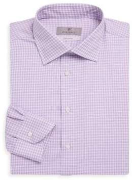 Canali Checked Dress Shirt