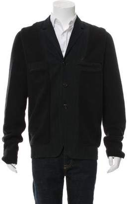 Alexander McQueen Wool Notch-Lapel Cardigan
