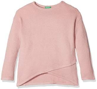 Benetton Girl's Sweater L/s Sweatshirt,(Manufacturer Size: Medium)