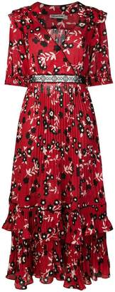 Self-Portrait floral print shirt dress