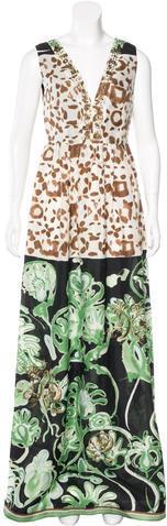 Emilio PucciEmilio Pucci Silk Printed Gown w/ Tags