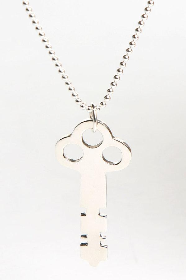 Michele Michel Jewelry Silver Key Necklace