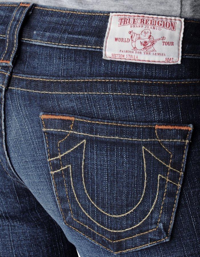 True Religion Womens Petite Stella Jeans