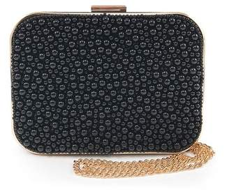 Violet Ray Beaded Clutch