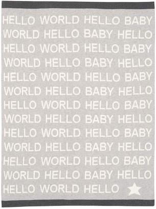 Elegant Baby Hello World Baby Blanket