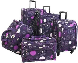 American Flyer 5-Piece Fireworks Luggage Set