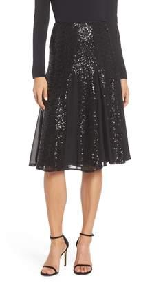 Eliza J Sequin Flared Skirt