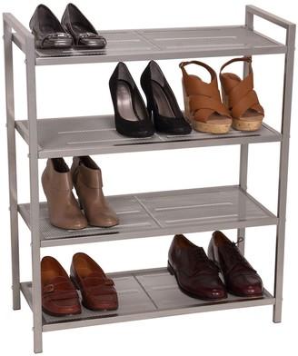 Household Essentials 4 Tier Mesh Shoe Rack