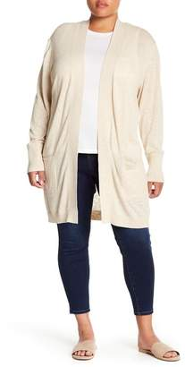 Susina Rib Trimmed Cardigan (Plus Size)