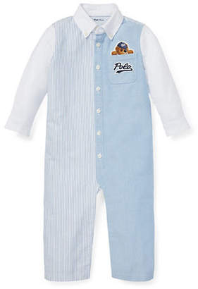 Ralph Lauren Baby Boy's Polo Bear Cotton Coveralls