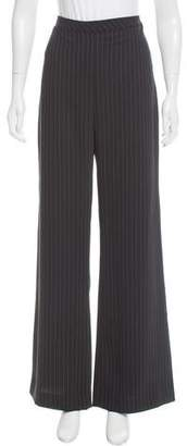 Veda Wide-Legged Pinstripe Pants