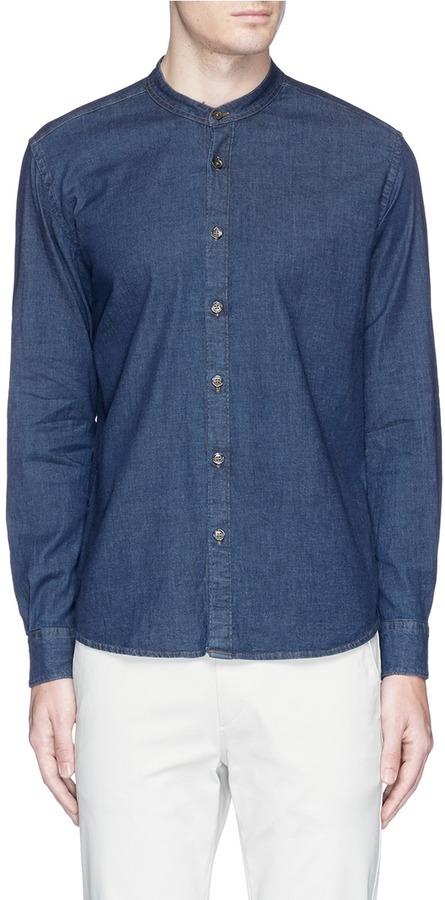 AlteaAltea Mandarin collar denim shirt