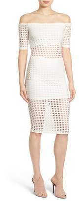 KENDALL + KYLIE Kendall & Kylie Laser Cut Pencil Skirt