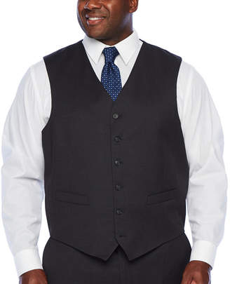 STAFFORD Stafford Super Checked Stretch Suit Vest - Big and Tall
