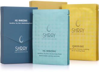 clear SHRAY Shray 0.74Oz Complexion + Ultimate Hydration 10Pc Beauty Mask Set
