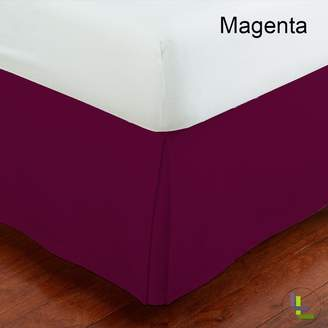 Living & Co 600TC 100% Egyptian Cotton 1PCs Box Pleated Bedskirt Solid (Drop Length: 11 inches)