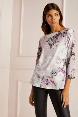 Next Lipsy Floral Boat Neck Top - 6