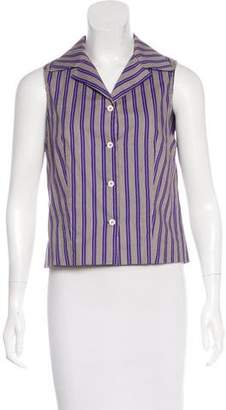 Philosophy di Alberta Ferretti Striped Sleeveless Top