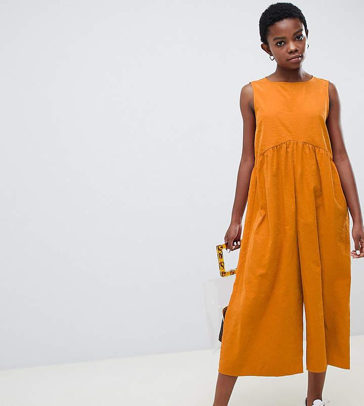 ASOS DESIGN Petite minimal jumpsuit with ruching detail