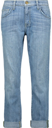 Current/Elliott The Fling Distressed Boyfriend Jeans $278 thestylecure.com