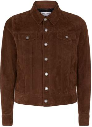 Saint Laurent Suede Collared Jacket