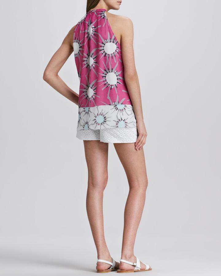 Diane von Furstenberg Fabiola Eyelet Shorts
