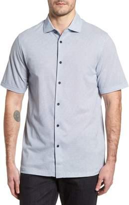 Bugatchi Shaped Fit Microprint Sport Shirt