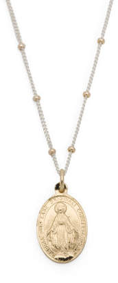 Made In India 18k Plated Silver Blessed Mother Necklace