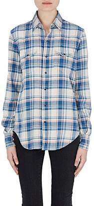 Womens Nassau & Manhattan Plaid Flannel Shirt The Blue Shirt Shop