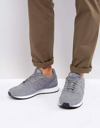 Nike Vortex Leather Sneakers In Grey 918206-002