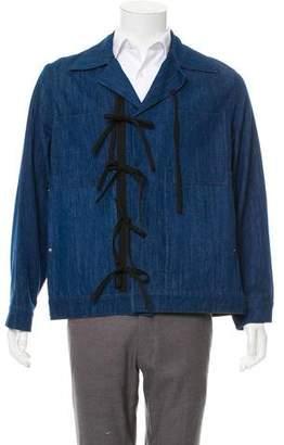 Craig Green Tie-Accented Denim Jacket