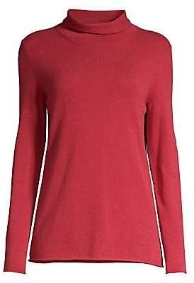 Peserico Women's Mockneck Wool Silk Cashmere Sweater