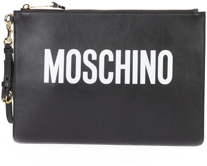 MoschinoMoschino logo clutch