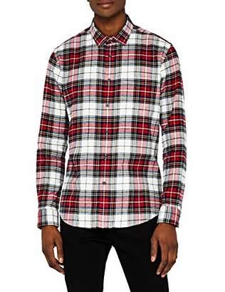 Meraki Men's Regular-Fit Long Sleeve Plaid Flannel Shirt