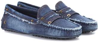 Tod's Gommino denim loafers