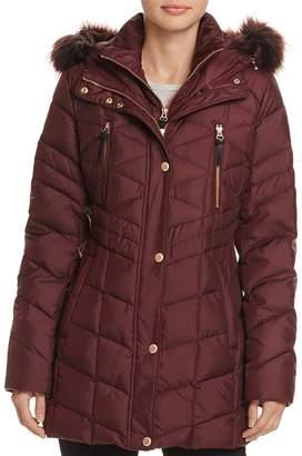 Andrew Marc Marley Faux Fur Trim Puffer Coat