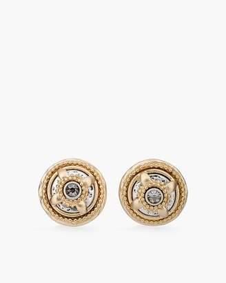 Mixed-Metal Textured Stud Earrings
