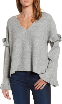 Cupcakes And Cashmere Ruffle Slouchy Sweater
