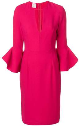 Pinko trumpet sleeve dress