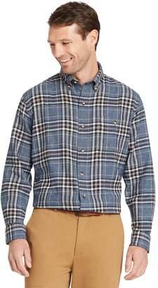 Arrow Big & Tall Saranac Regular-Fit Plaid Flannel Button-Down Shirt